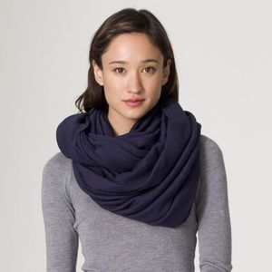 American Apparel black circle scarf